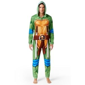 Ninja Turtles Leonardo Adult Men's Onesie Costume